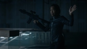 See How They Fly- Angela tries to convince Keene to not try and take Jon's powers- HBO, Watchmen