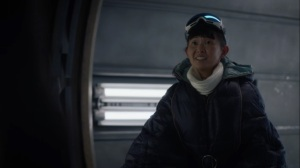 See How They Fly- Lady Trieu visits Adrian Veidt in Antarctica- HBO, Watchmen