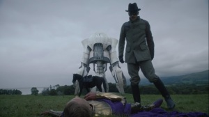 See How They Fly- The Game Warden shoots Adrian Veidt- HBO, Watchmen