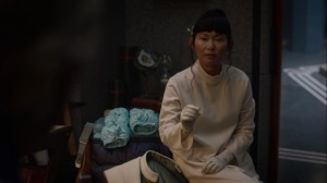 See How They Fly- Trieu tells Veidt about her plan to take Doctor Manhattan's abilities- HBO, Watchmen