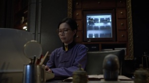See How They Fly- Worker, played by Elyse Dinh, in Veidt's quarters- HBO, Watchmen