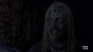 Squeeze- Alpha gives Gamma a look- AMC, The Walking Dead