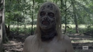 Squeeze- Alpha strips down- AMC, The Walking Dead