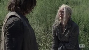 Squeeze- Carol wants Daryl to blame her for the apparently loss of Connie- AMC, The Walking Dead