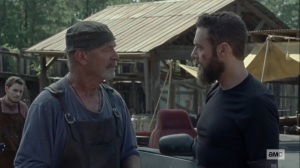 Morning Star- Aaron tells Earl that Gamma is Adam's aunt- AMC, The Walking Dead