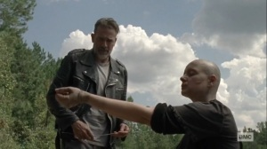Morning Star- Alpha instructs Negan to whip her arm- AMC, The Walking Dead