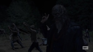 Morning Star- Beta and other Whisperers fire at Hilltop- AMC, The Walking Dead