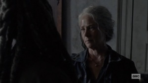 Morning Star- Carol sees bump on Ezekiel's neck- AMC, The Walking Dead