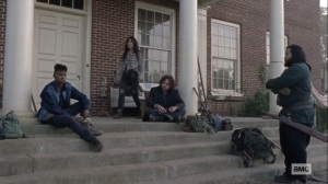 Morning Star- Kelly, Luke, Yumiko, and Jerry at Hilltop- AMC, The Walking Dead