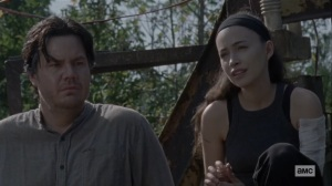 Morning Star- Rosita and Eugene talk- AMC, The Walking Dead