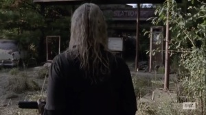 Stalker- Alpha searches for Daryl at a gas station- AMC, The Walking Dead
