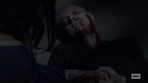 Stalker- Alpha tries to get Lydia to kill her- AMC, The Walking Dead