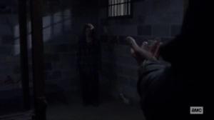 Stalker- Beta demands that Gamma step towards him- AMC, The Walking Dead