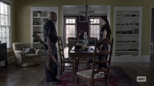 Stalker- Gabriel and Rosita argue- AMC, The Walking Dead