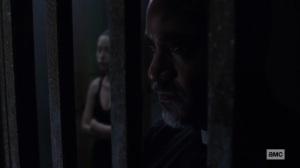 Stalker- Gabriel and Rosita question Gamma- AMC, The Walking Dead