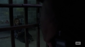 Stalker- Gamma questioned by Gabriel and Rosita- AMC, The Walking Dead