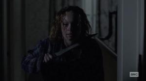 Stalker- Gamma threatens to kill herself- AMC, The Walking Dead