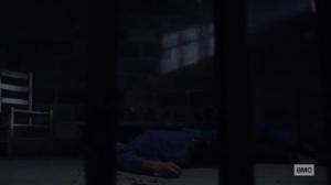 Stalker- Laura on the ground- AMC, The Walking Dead