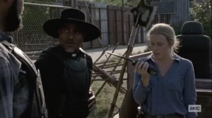 Stalker- Laura radios to the others- AMC, The Walking Dead