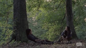 Stalker- Lydia with Daryl when he awakens- AMC, The Walking Dead