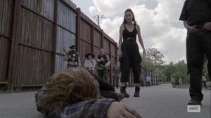 Stalker- Rosita punches Gamma- AMC, The Walking Dead