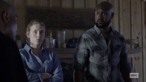 Stalker- Scott and Laura ask Gabriel if they can trust Laura- AMC, The Walking Dead