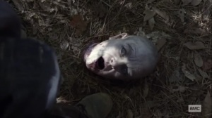 Walk With Us- Alpha's reanimated head- AMC, The Walking Dead