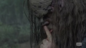 Walk With Us- Beta's mask ripped- AMC, The Walking Dead