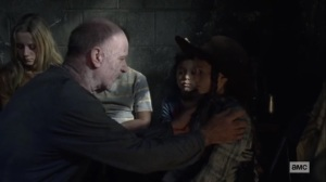 Walk With Us- Earl takes care of the kids from Hilltop- AMC, The Walking Dead