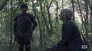 Walk With Us- Eugene tells Carol about his upcoming meeting- AMC, The Walking Dead