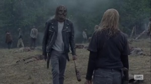 Walk With Us- Negan and Alpha clear up the dead- AMC, The Walking Dead