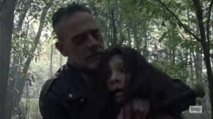 Walk With Us- Negan takes Lydia hostage- AMC, The Walking Dead