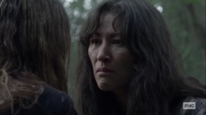 Walk With Us- Yumiko hears how Magna survived- AMC, The Walking Dead