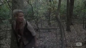 What We Become- Andrea running from walkers- AMC, The Walking Dead