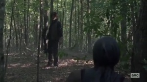 What We Become- Daryl shoots Michonne with an arrow- AMC, The Walking Dead