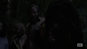 What We Become- Michonne debates whether to kill Virgil- AMC, The Walking Dead