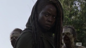 What We Become- Michonne finds two survivors- AMC, The Walking Dead