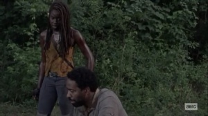 What We Become- Michonne presses Virgil to hold up his end of the deal- AMC, The Walking Dead