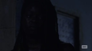 What We Become- Michonne tells Virgil to try living without his family- AMC, The Walking Dead