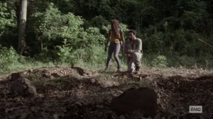 What We Become- Virgil at the grave site of his family- AMC, The Walking Dead