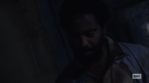 What We Become- Virgil tells Michonne that he drugged her tea- AMC, The Walking Dead