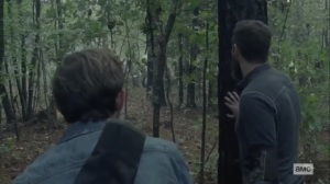 The Tower- Aaron and Alden see the Whisperers changing direction- AMC, The Walking Dead