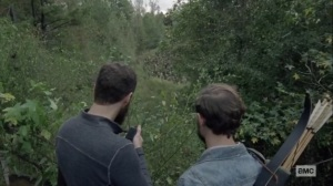 The Tower- Aaron and Alden watch the walker herd- AMC, The Walking Dead