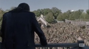 The Tower- Beta watches the herd in Alexandria- AMC, The Walking Dead