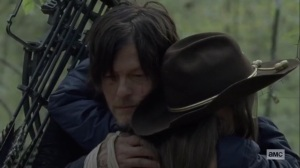 The Tower- Daryl and Judith hug- AMC, The Walking Dead