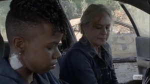 The Tower- Kelly and Carol try to hotwire a car- AMC, The Walking Dead