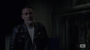 The Tower- Negan wants Lydia to hit him- AMC, The Walking Dead