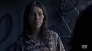 The Tower- Yumiko talks with Princess- AMC, The Walking Dead