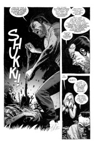 Negan Lives- Negan forces the shovel through Derick's heart- The Walking Dead