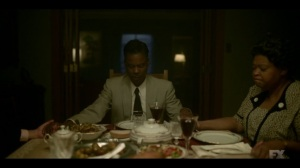 The Land of Taking and Killing- Loy prays over dinner- Fargo, FX